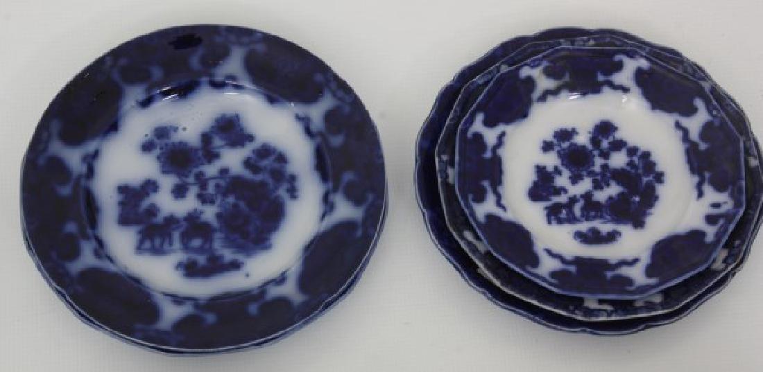 23 Pcs. Flow Blue – Tonquin & Cashmere - 7