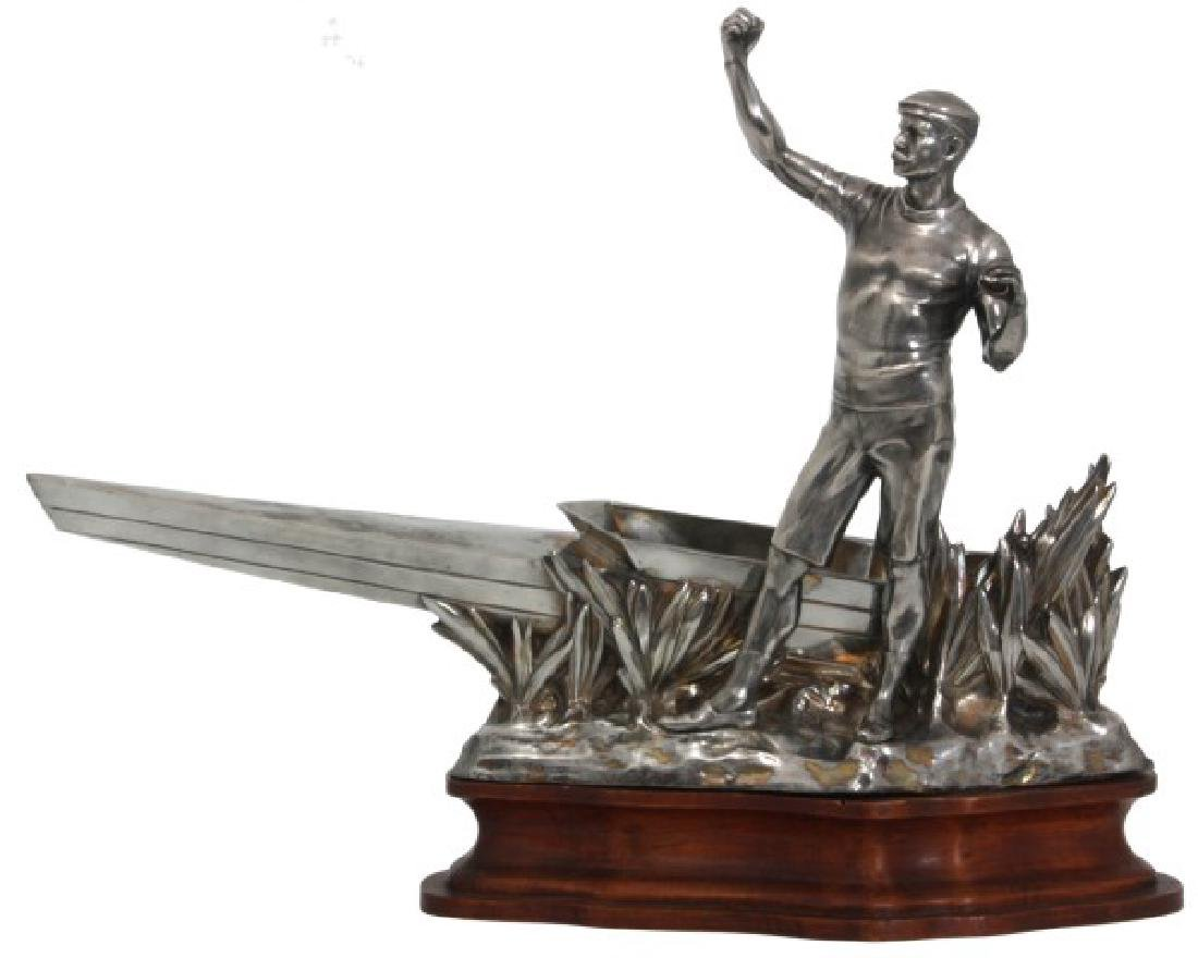 Silver Plated Boat Race Trophy
