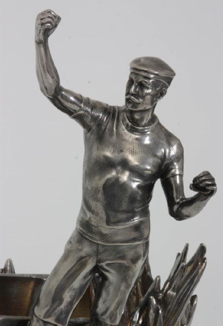 Silver Plated Boat Race Trophy - 2