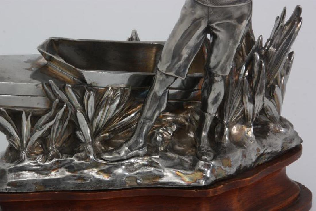 Silver Plated Boat Race Trophy - 3