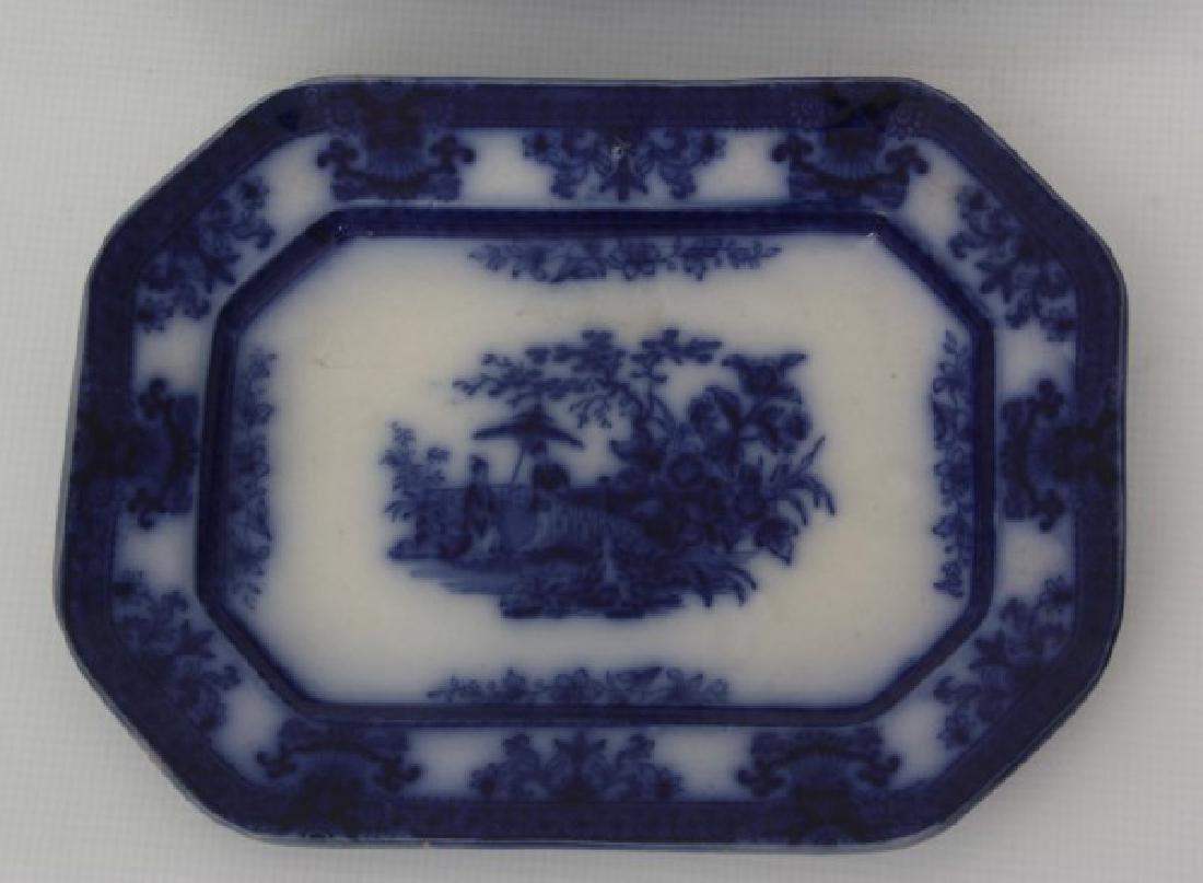 85 Pcs. Davenport Flow Blue Amoy Pattern - 10