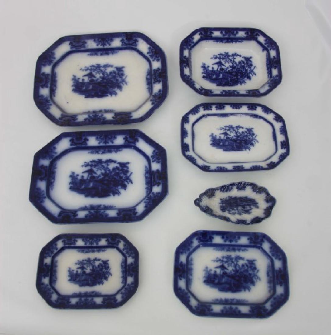 85 Pcs. Davenport Flow Blue Amoy Pattern - 3