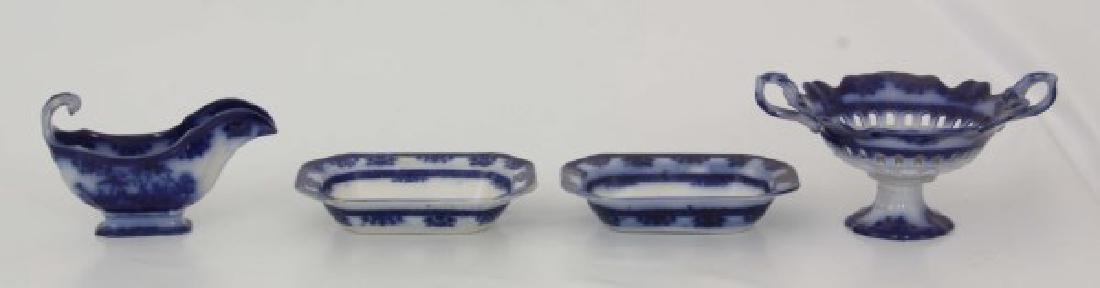 85 Pcs. Davenport Flow Blue Amoy Pattern - 4