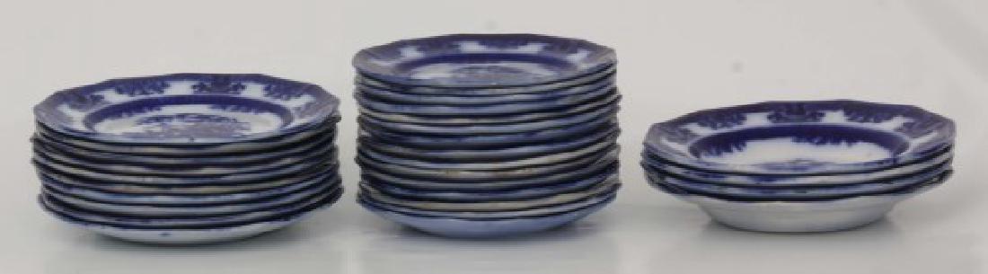 85 Pcs. Davenport Flow Blue Amoy Pattern - 5