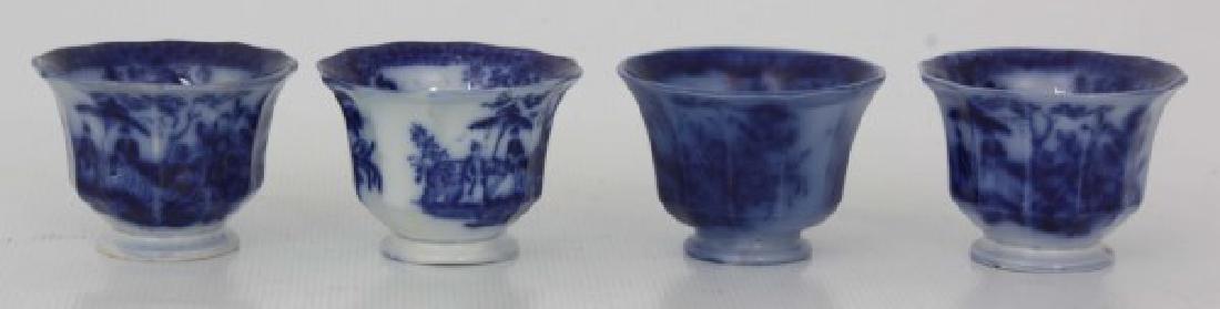 85 Pcs. Davenport Flow Blue Amoy Pattern - 7