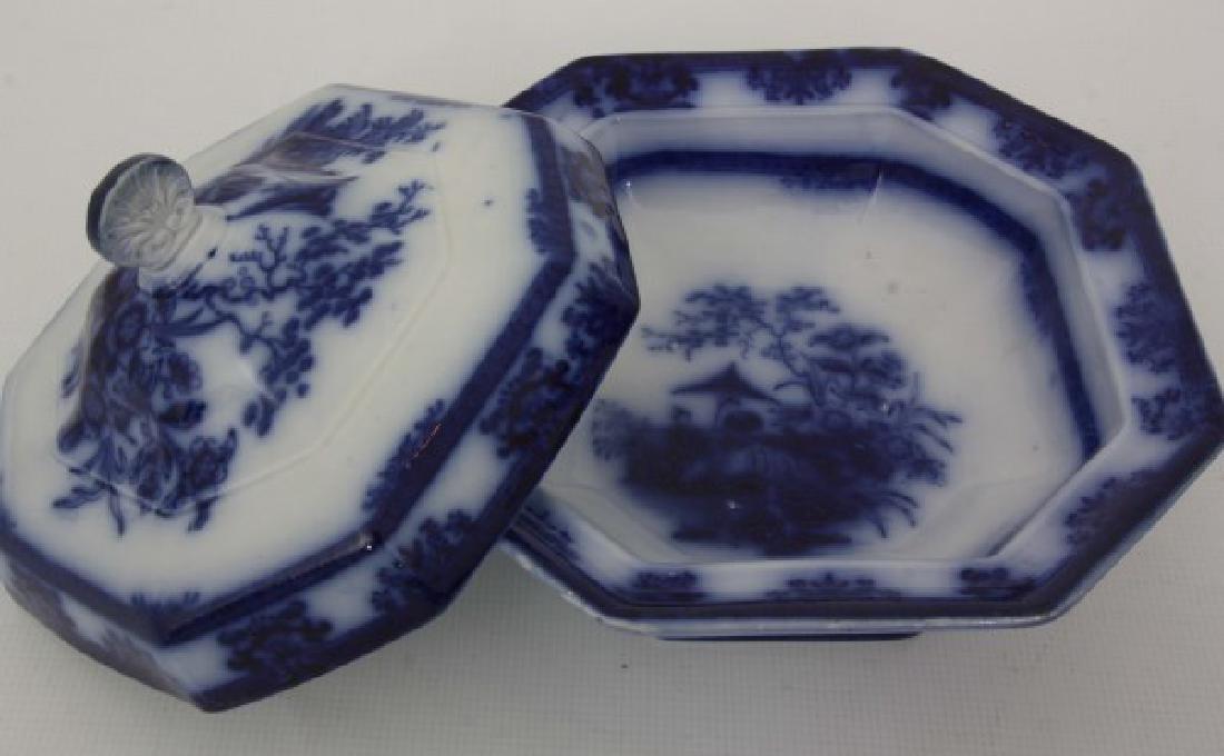 85 Pcs. Davenport Flow Blue Amoy Pattern - 8