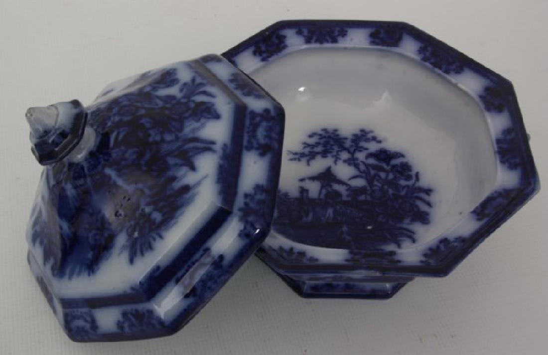 85 Pcs. Davenport Flow Blue Amoy Pattern - 9