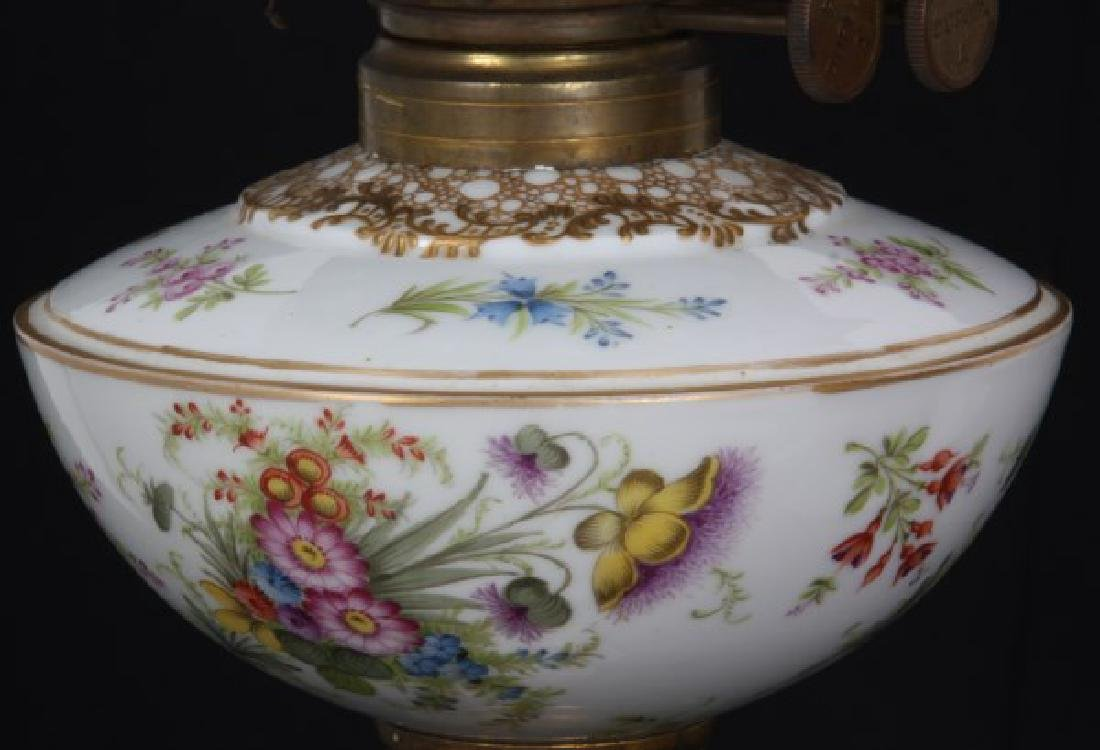Attr. Dresden Porcelain & Bronze Piano Lamp - 5