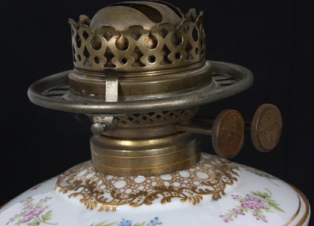 Attr. Dresden Porcelain & Bronze Piano Lamp - 7