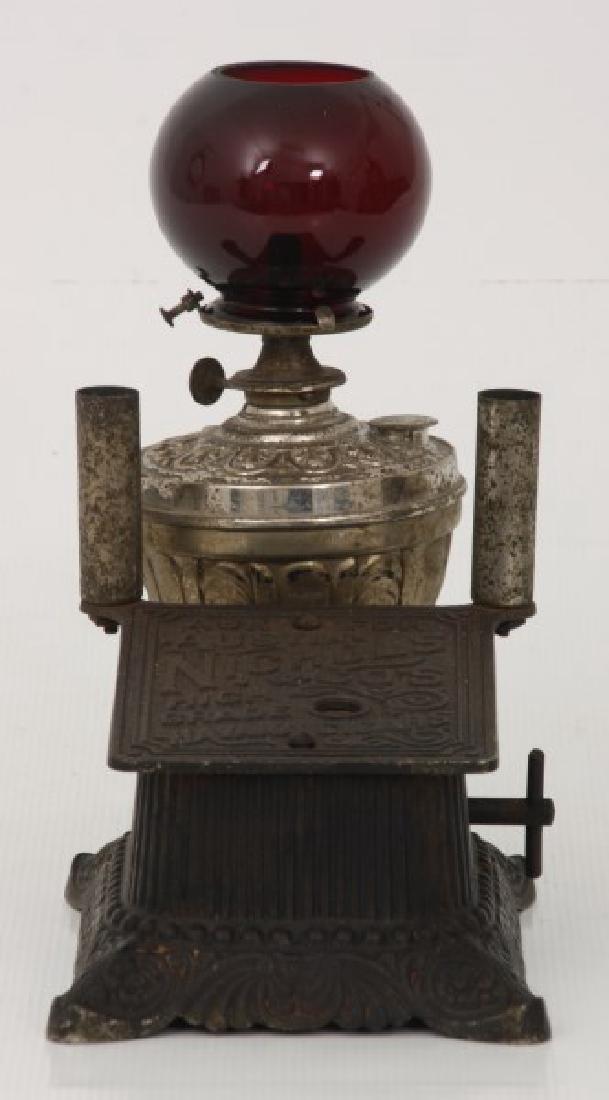 Cast Iron Counter Top Cigar Cutter & Lamp - 2