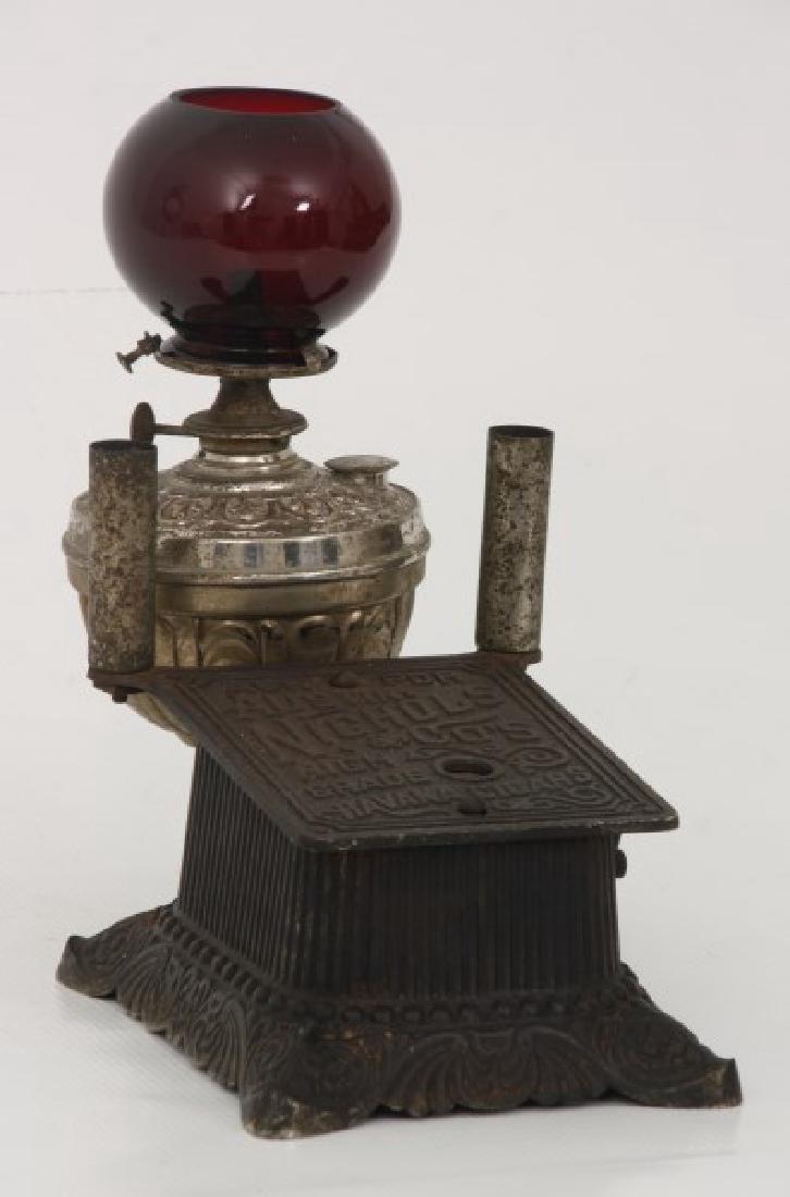 Cast Iron Counter Top Cigar Cutter & Lamp - 3