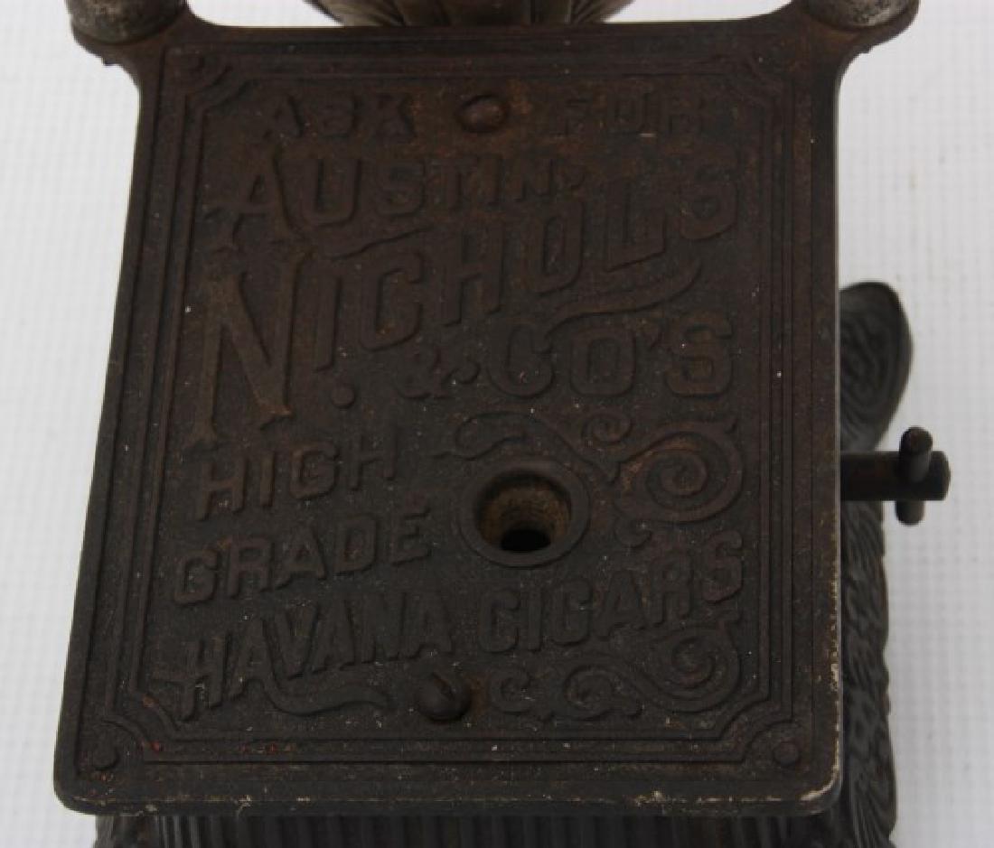 Cast Iron Counter Top Cigar Cutter & Lamp - 4