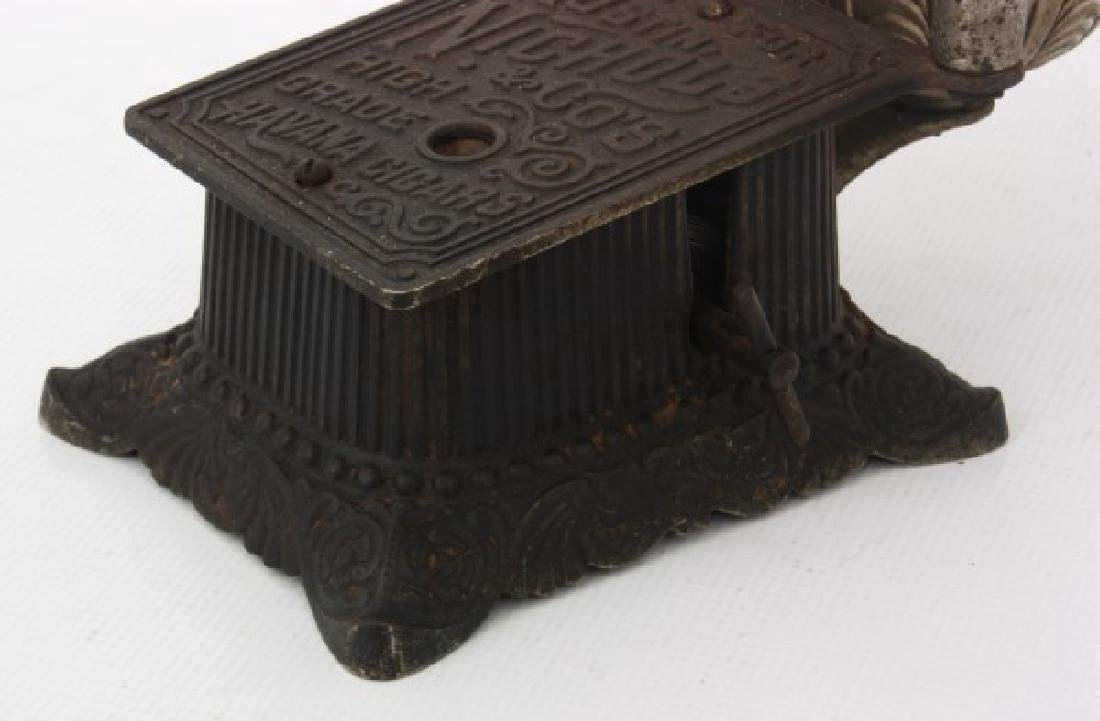 Cast Iron Counter Top Cigar Cutter & Lamp - 5