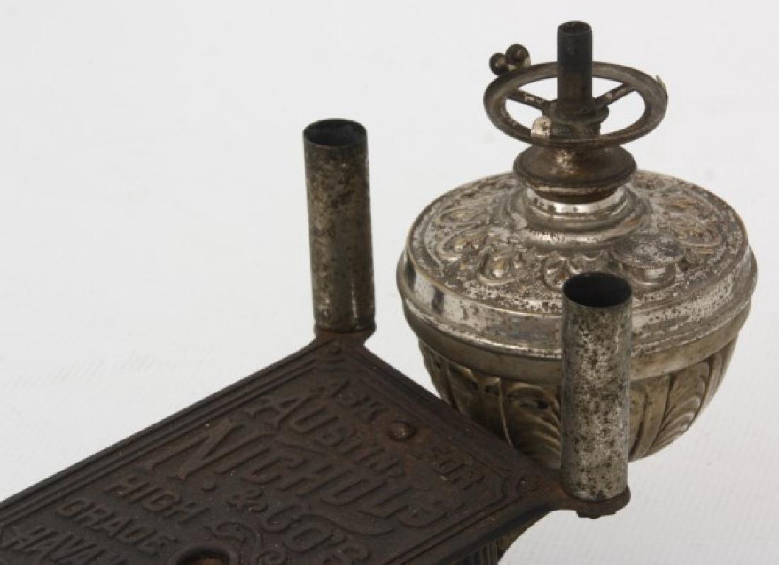 Cast Iron Counter Top Cigar Cutter & Lamp - 6