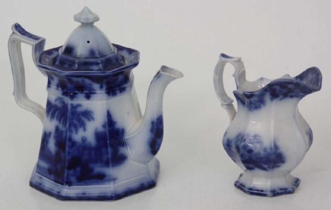 10 Assorted Flow Blue Tea Set Pieces - 3