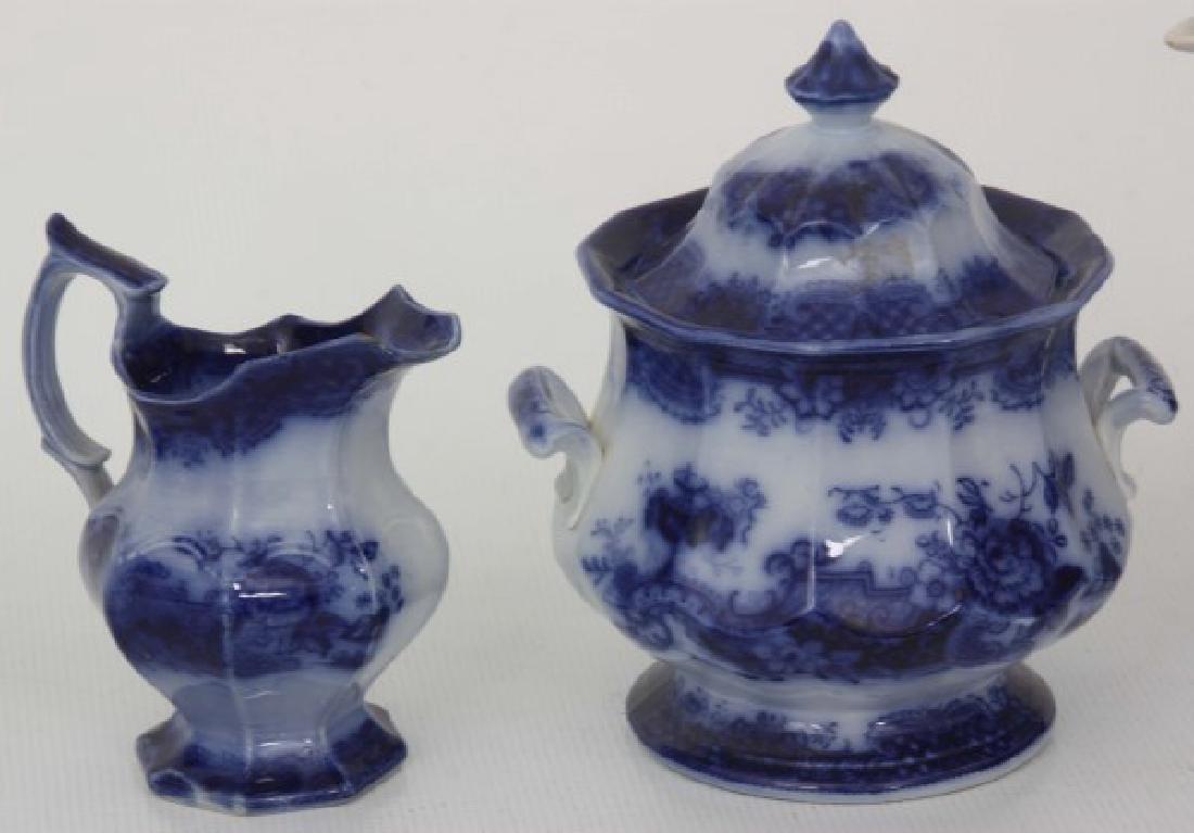 10 Assorted Flow Blue Tea Set Pieces - 4