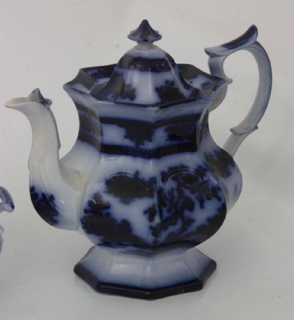 10 Assorted Flow Blue Tea Set Pieces - 5