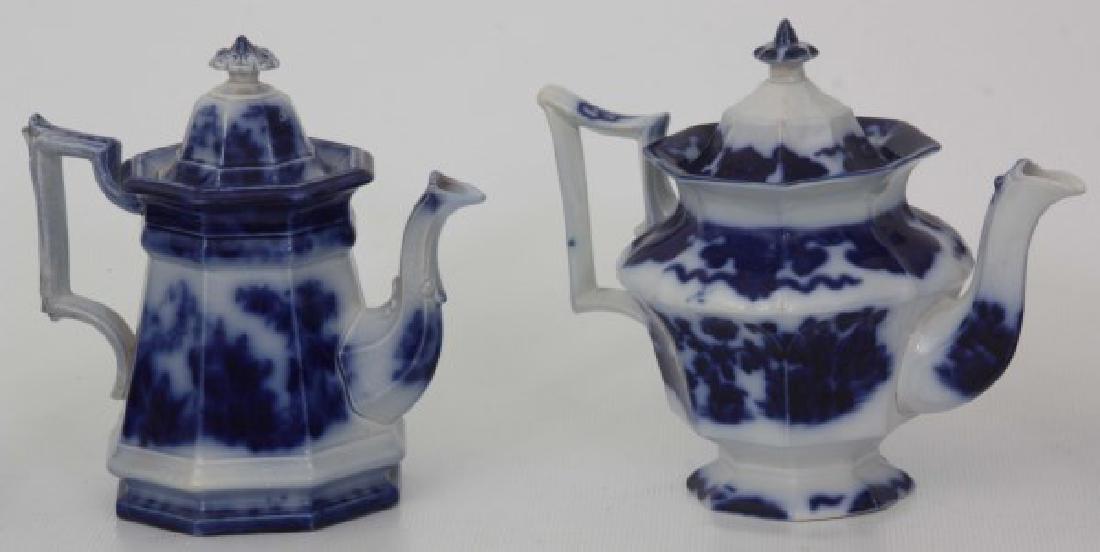 10 Assorted Flow Blue Tea Set Pieces - 7