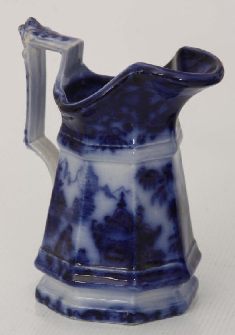 10 Assorted Flow Blue Tea Set Pieces - 8