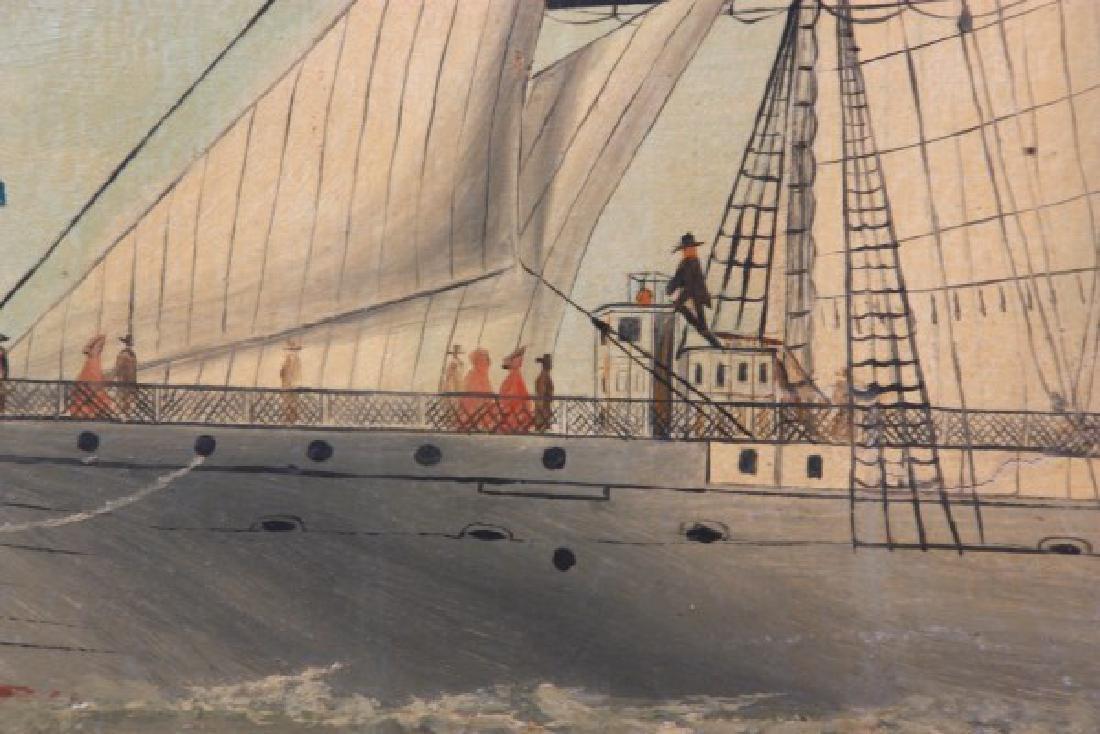 Wonderful O/C Paddle Wheel Ship Painting - 2