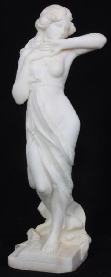 A. Cipriani Carved Marble Sculpture