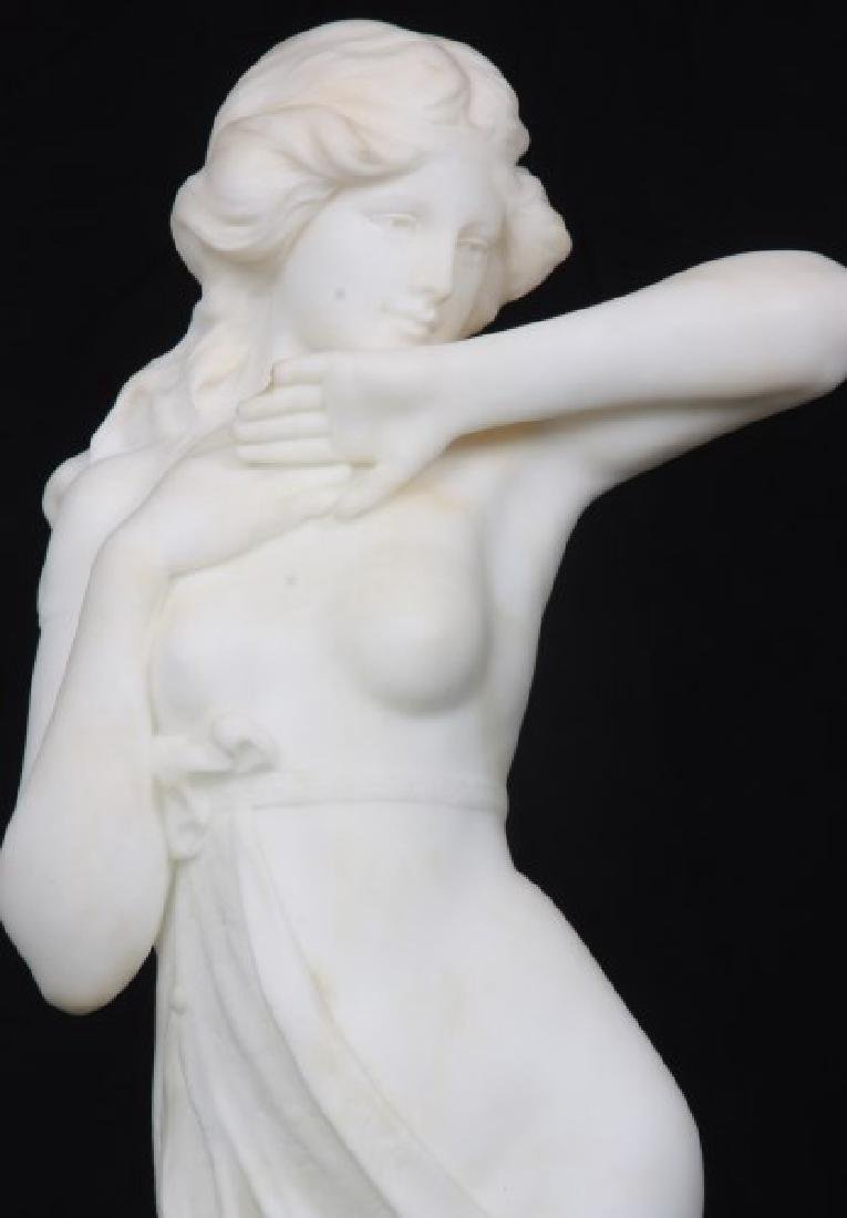 A. Cipriani Carved Marble Sculpture - 2