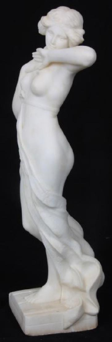 A. Cipriani Carved Marble Sculpture - 8