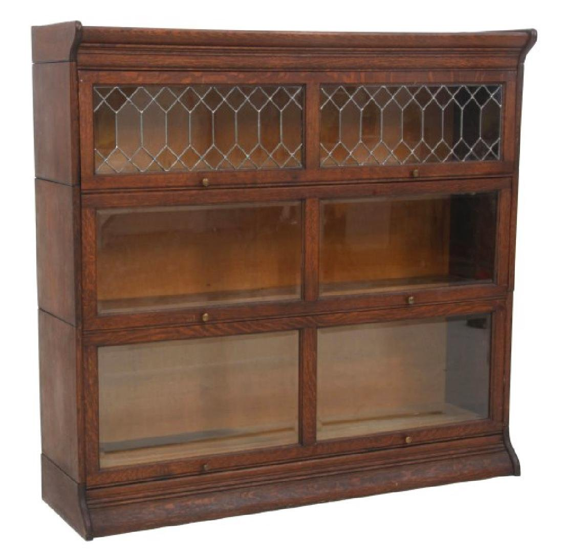 Grand Rapids Oak Double Stacking Bookcase