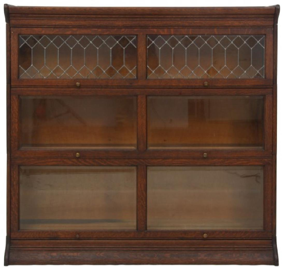 Grand Rapids Oak Double Stacking Bookcase - 2