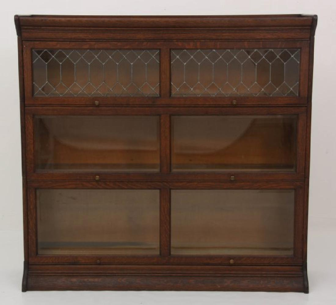 Grand Rapids Oak Double Stacking Bookcase - 3