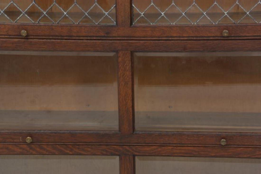 Grand Rapids Oak Double Stacking Bookcase - 6