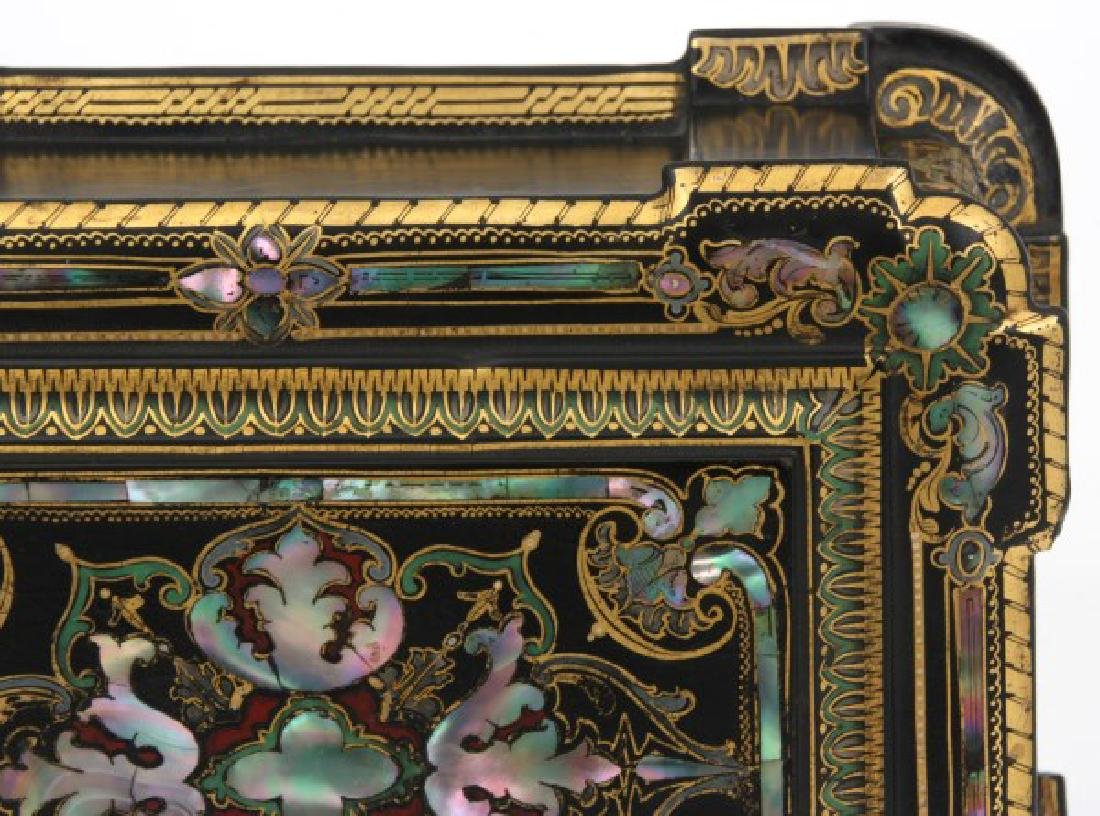 Mother Of Pearl Lacquer Decorated Box - 10