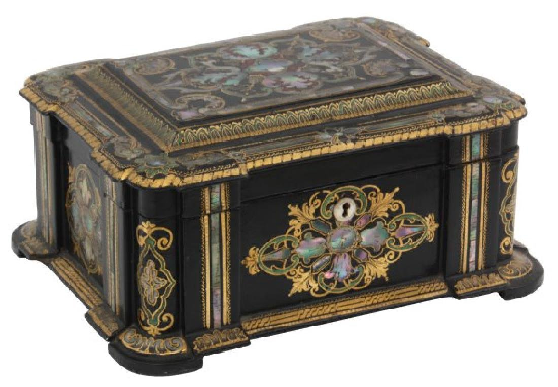 Mother Of Pearl Lacquer Decorated Box - 2