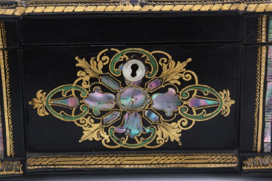 Mother Of Pearl Lacquer Decorated Box - 3