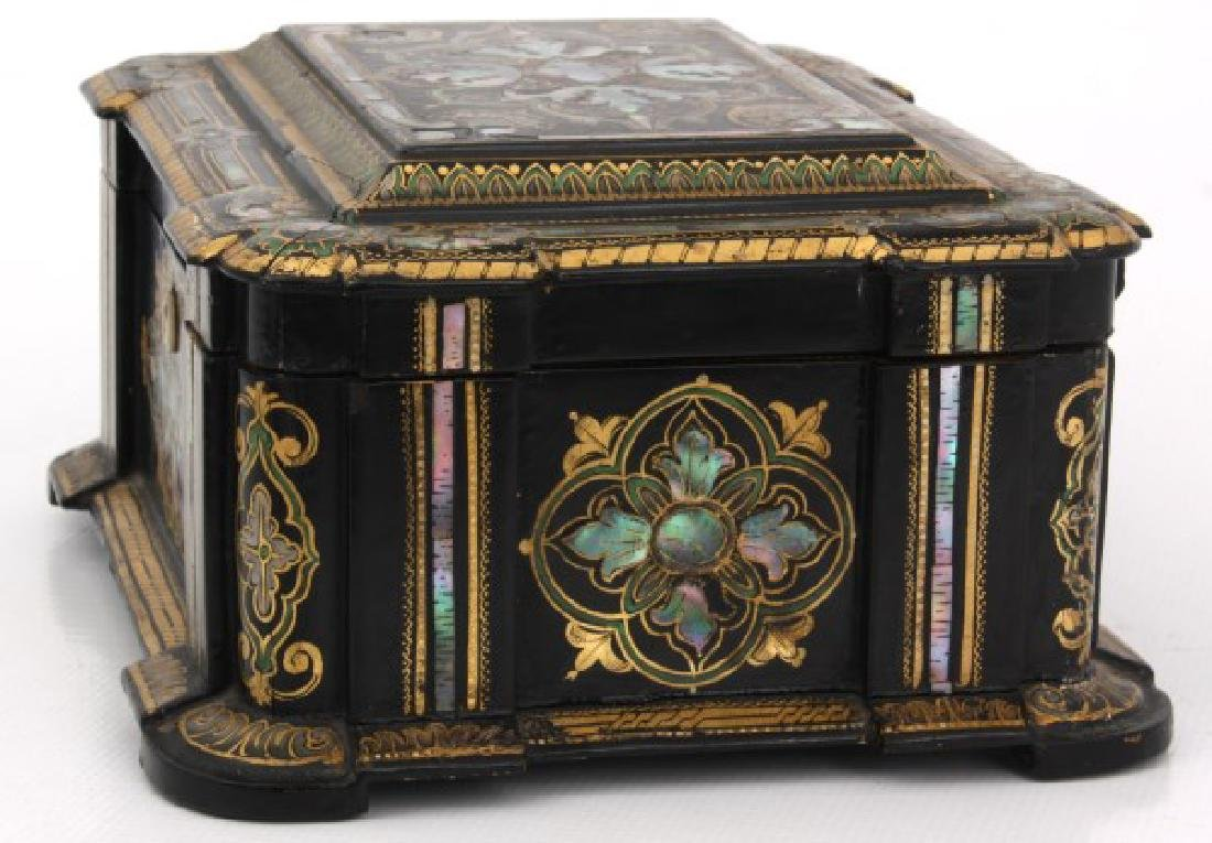 Mother Of Pearl Lacquer Decorated Box - 4