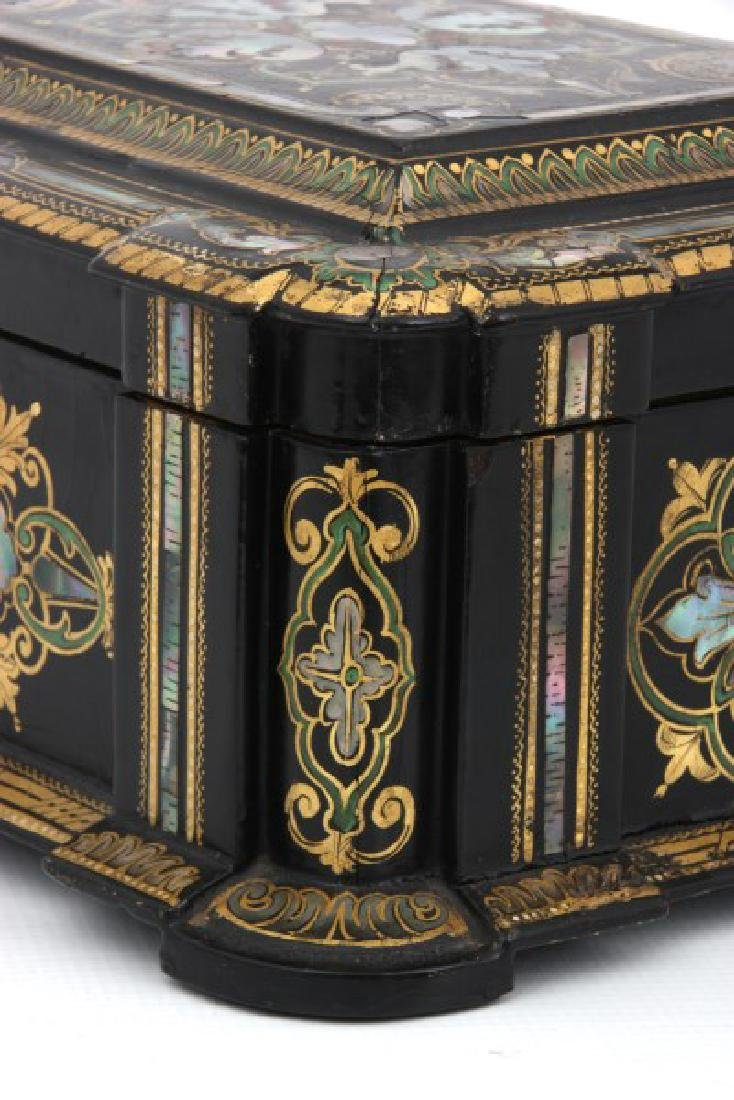 Mother Of Pearl Lacquer Decorated Box - 5