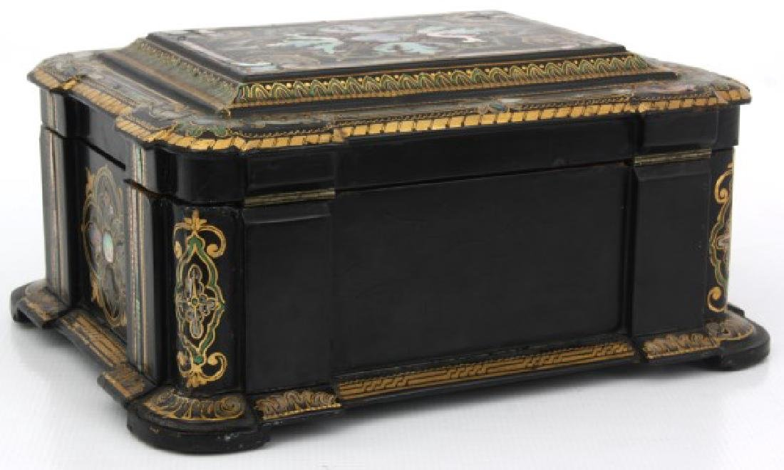 Mother Of Pearl Lacquer Decorated Box - 6