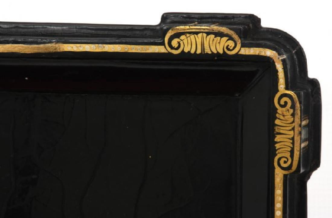 Mother Of Pearl Lacquer Decorated Box - 8