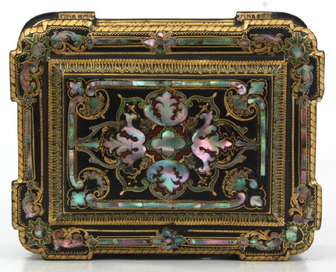 Mother Of Pearl Lacquer Decorated Box - 9
