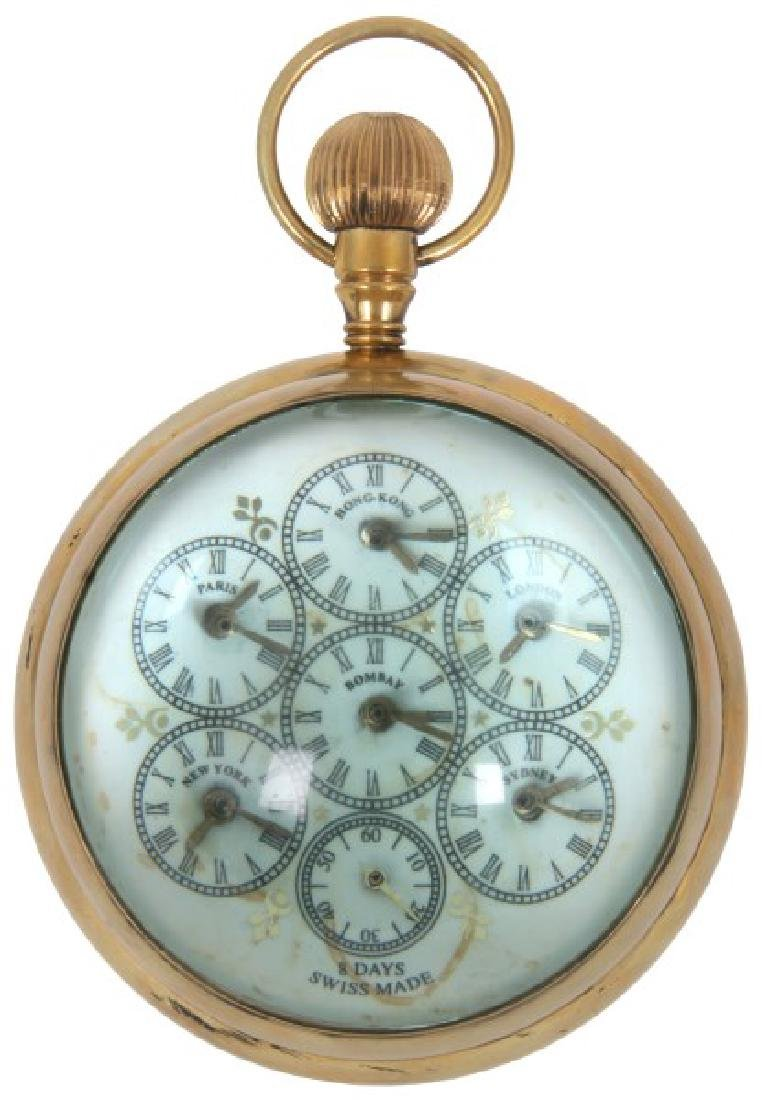 5 in. World Time Crystal Ball Clock