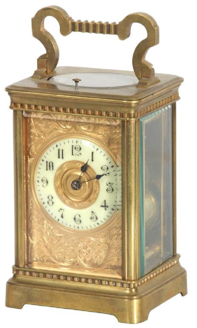 Hour Repeater Brass Carriage Clock