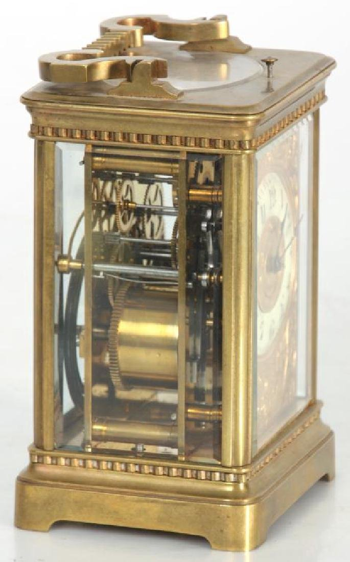 Hour Repeater Brass Carriage Clock - 2