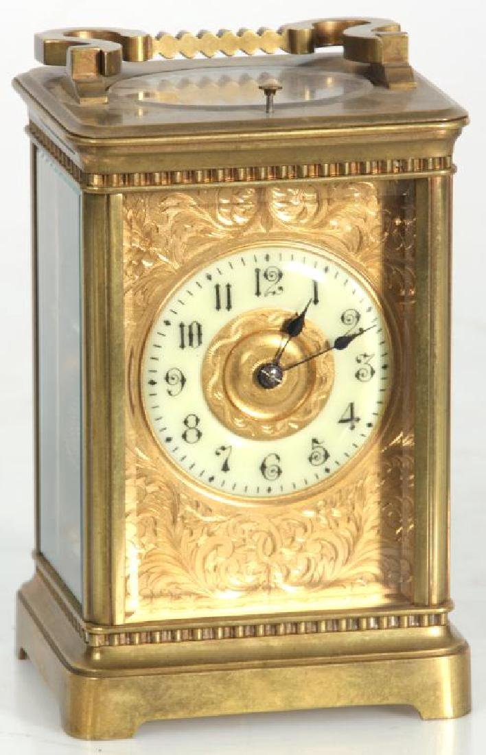 Hour Repeater Brass Carriage Clock - 3