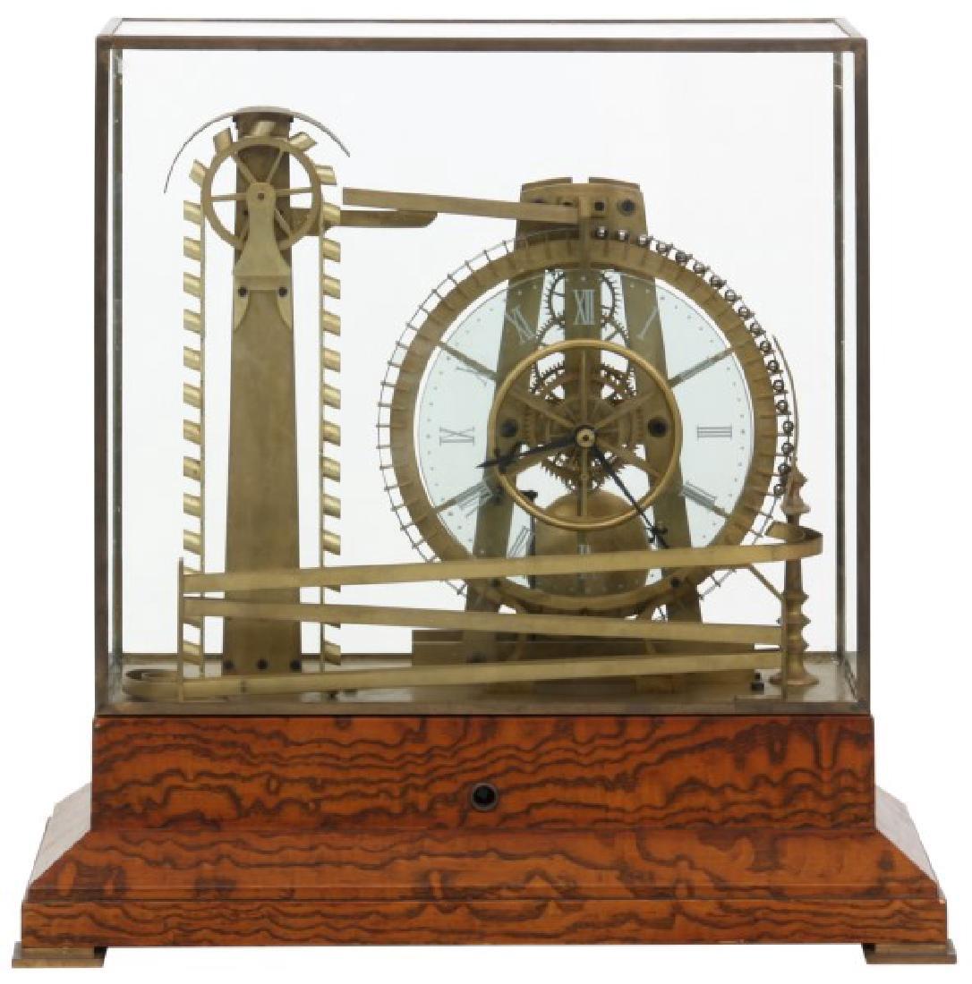 Animated Water Wheel Skeleton Clock (Replica) - 2