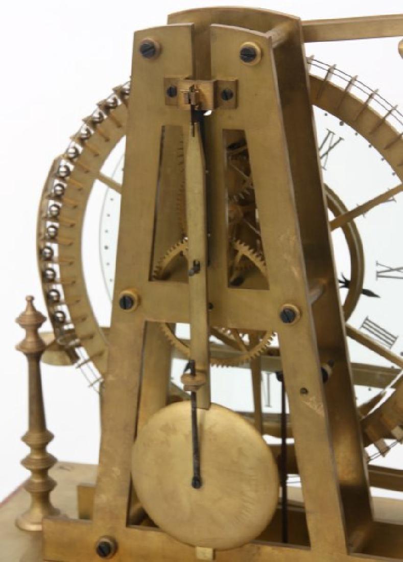 Animated Water Wheel Skeleton Clock (Replica) - 4