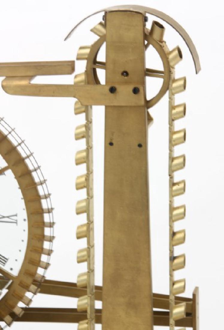 Animated Water Wheel Skeleton Clock (Replica) - 5