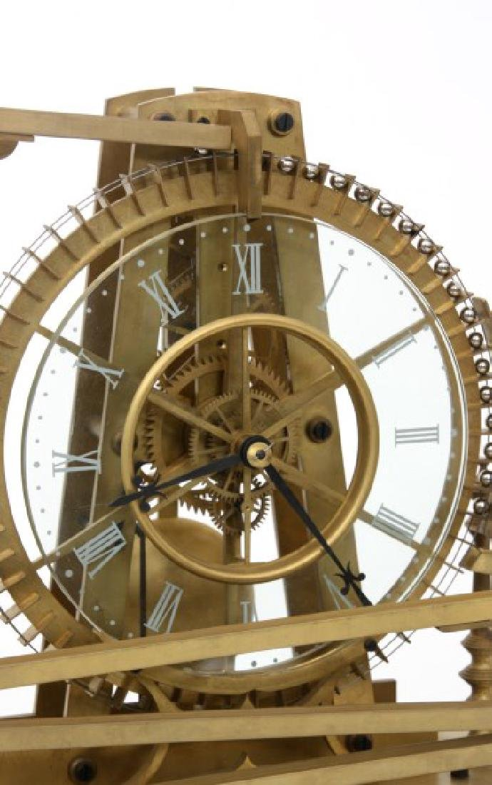 Animated Water Wheel Skeleton Clock (Replica) - 7