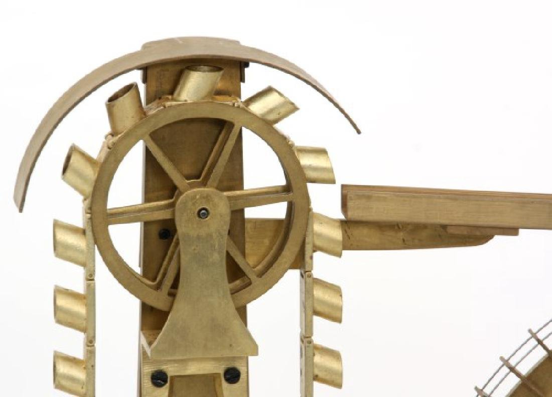 Animated Water Wheel Skeleton Clock (Replica) - 9