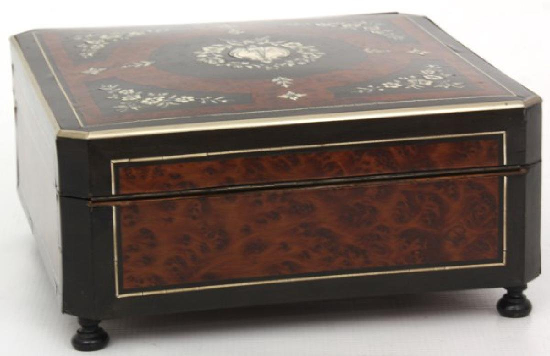 French Silver Inlaid Box - 5