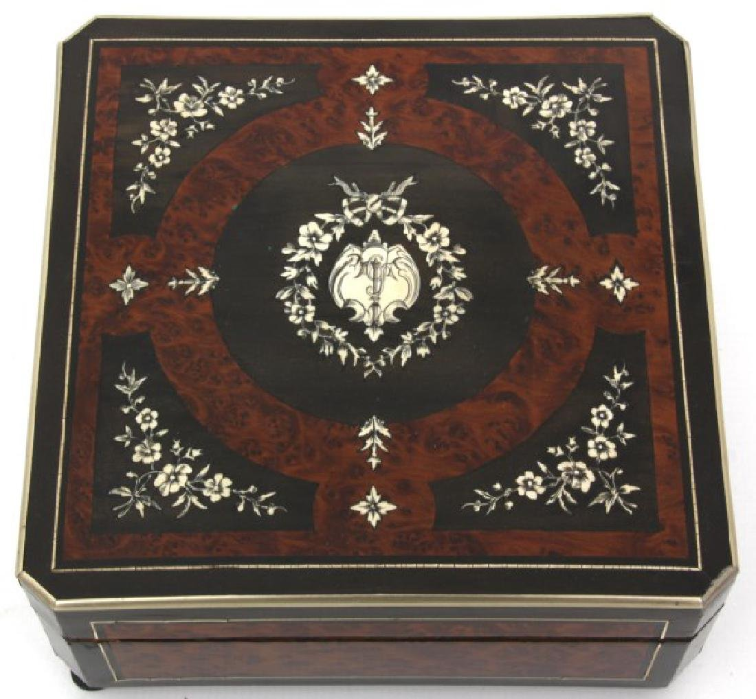 French Silver Inlaid Box - 6
